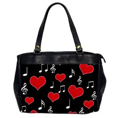 Love Song Office Handbags (2 Sides)  by Valentinaart