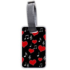 Love Song Luggage Tags (one Side)  by Valentinaart