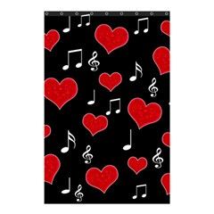 Love Song Shower Curtain 48  X 72  (small)  by Valentinaart