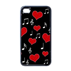 Love Song Apple Iphone 4 Case (black) by Valentinaart