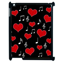 Love Song Apple Ipad 2 Case (black) by Valentinaart