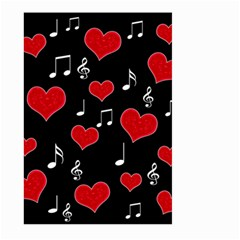 Love Song Large Garden Flag (two Sides) by Valentinaart