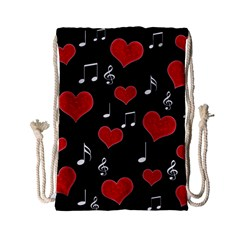 Love Song Drawstring Bag (small) by Valentinaart