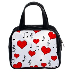 Love Song Pattern Classic Handbags (2 Sides)