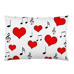 Love Song Pattern Pillow Case by Valentinaart