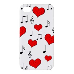 Love Song Pattern Apple Iphone 4/4s Hardshell Case by Valentinaart