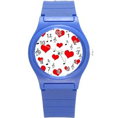 Love Song Pattern Round Plastic Sport Watch (s)