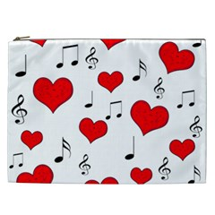 Love Song Pattern Cosmetic Bag (xxl)
