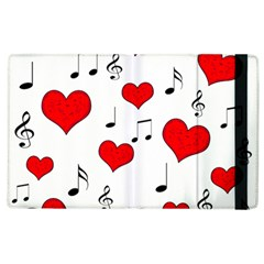 Love Song Pattern Apple Ipad 2 Flip Case by Valentinaart