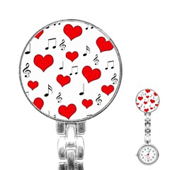 Love Song Pattern Stainless Steel Nurses Watch by Valentinaart