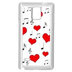 Love Song Pattern Samsung Galaxy Note 4 Case (white) by Valentinaart