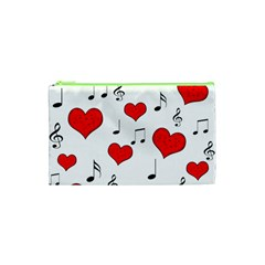 Love Song Pattern Cosmetic Bag (xs) by Valentinaart