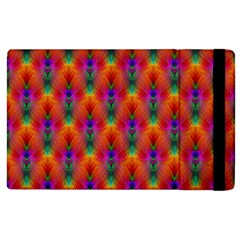 Apophysis Fractal Owl Neon Apple Ipad 2 Flip Case by Nexatart