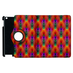 Apophysis Fractal Owl Neon Apple Ipad 2 Flip 360 Case by Nexatart