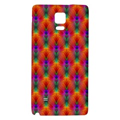 Apophysis Fractal Owl Neon Galaxy Note 4 Back Case by Nexatart