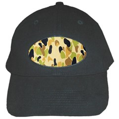 Army Camouflage Pattern Black Cap by Nexatart