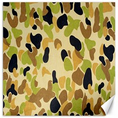 Army Camouflage Pattern Canvas 16  X 16   by Nexatart
