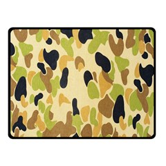 Army Camouflage Pattern Double Sided Fleece Blanket (small)