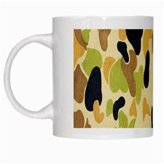Army Camouflage Pattern White Mugs