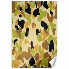 Army Camouflage Pattern Canvas 12  X 18   by Nexatart