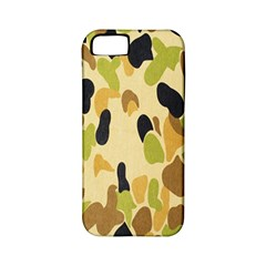 Army Camouflage Pattern Apple Iphone 5 Classic Hardshell Case (pc+silicone)
