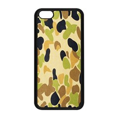 Army Camouflage Pattern Apple Iphone 5c Seamless Case (black) by Nexatart