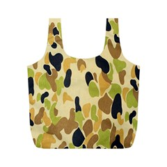 Army Camouflage Pattern Full Print Recycle Bags (m)  by Nexatart