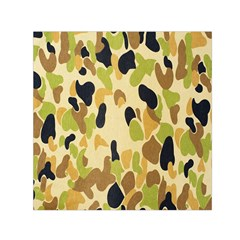 Army Camouflage Pattern Small Satin Scarf (square) by Nexatart
