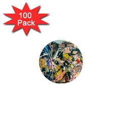 Art Graffiti Abstract Vintage 1  Mini Magnets (100 Pack)  by Nexatart