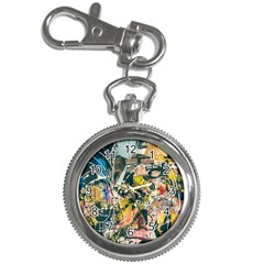 Art Graffiti Abstract Vintage Key Chain Watches by Nexatart