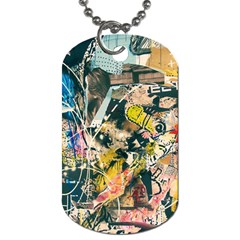 Art Graffiti Abstract Vintage Dog Tag (one Side) by Nexatart