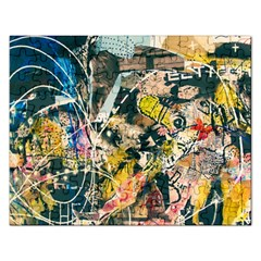 Art Graffiti Abstract Vintage Rectangular Jigsaw Puzzl by Nexatart