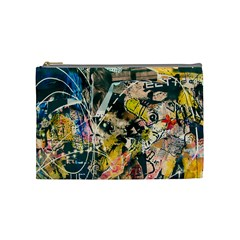 Art Graffiti Abstract Vintage Cosmetic Bag (medium)  by Nexatart