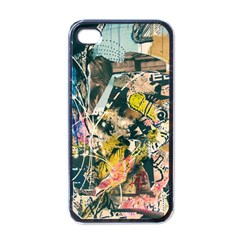 Art Graffiti Abstract Vintage Apple Iphone 4 Case (black) by Nexatart