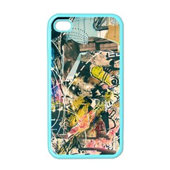 Art Graffiti Abstract Vintage Apple Iphone 4 Case (color) by Nexatart