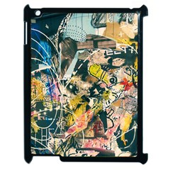 Art Graffiti Abstract Vintage Apple Ipad 2 Case (black) by Nexatart