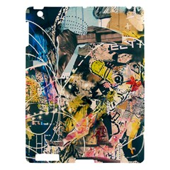 Art Graffiti Abstract Vintage Apple Ipad 3/4 Hardshell Case by Nexatart