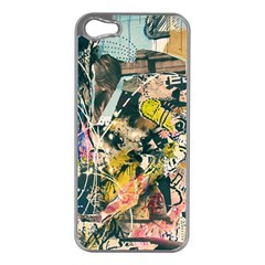 Art Graffiti Abstract Vintage Apple Iphone 5 Case (silver) by Nexatart