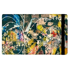 Art Graffiti Abstract Vintage Apple Ipad 3/4 Flip Case by Nexatart