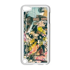 Art Graffiti Abstract Vintage Apple Ipod Touch 5 Case (white) by Nexatart
