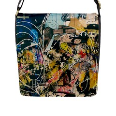 Art Graffiti Abstract Vintage Flap Messenger Bag (l)  by Nexatart