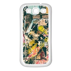Art Graffiti Abstract Vintage Samsung Galaxy S3 Back Case (white) by Nexatart