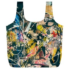 Art Graffiti Abstract Vintage Full Print Recycle Bags (l)  by Nexatart