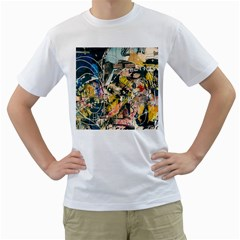 Art Graffiti Abstract Vintage Men s T Shirt (white)  by Nexatart