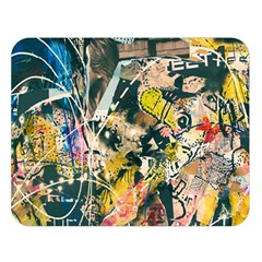 Art Graffiti Abstract Vintage Double Sided Flano Blanket (large)  by Nexatart