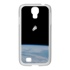Astronaut Floating Above The Blue Planet Samsung Galaxy S4 I9500/ I9505 Case (white) by Nexatart
