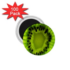 Kiwi Fruit Slices Cut Macro Green 1 75  Magnets (100 Pack)