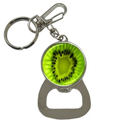 Kiwi Fruit Slices Cut Macro Green Button Necklaces by Alisyart