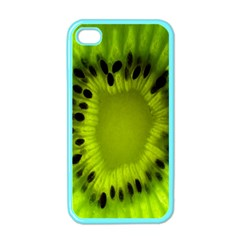 Kiwi Fruit Slices Cut Macro Green Apple Iphone 4 Case (color) by Alisyart