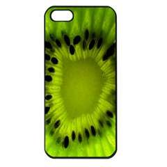 Kiwi Fruit Slices Cut Macro Green Apple Iphone 5 Seamless Case (black) by Alisyart